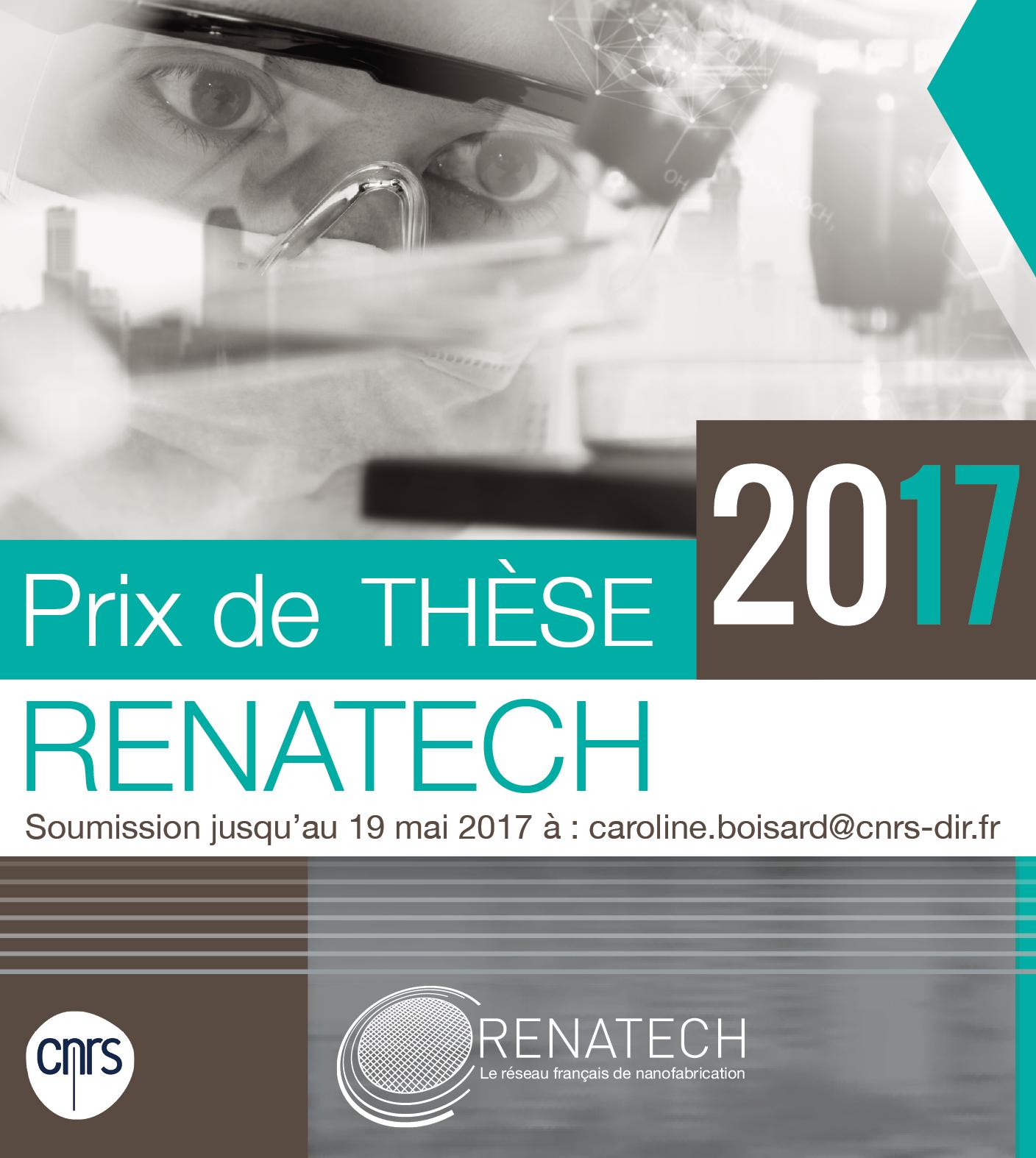 Renatech prize flyer